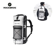 RockBros Outdoor Waterproof Backpack Heavy Duty Dry Bag Rucksack White Black 28L
