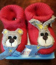 Bär Hase Baby Schuhe Giesswein rot 18 Wolle