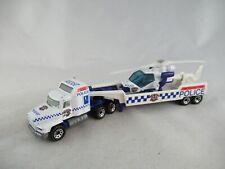 Matchbox convoy Mack helicopter transporter Police