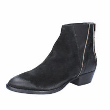 women's shoes MOMA 8,5 (EU 38,5) ankle boots black suede AC363-G