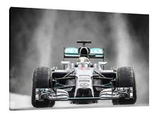 Lewis Hamilton 30x20 Inch Canvas Mercedes Framed Picture F1 Print 'Wet'