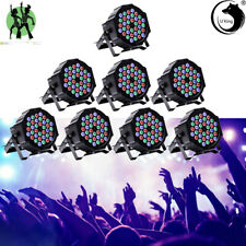 U`King 8PCS 80W RGB PAR Can 36 LED DMX512 Sound Stage Lighting Disco Party Club