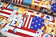 Alexander Henry PIN UP MEN USA Designerstoff 0,5m CHIPPENDALE SPORT FOOTBALL
