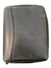 Spacemaker Franklin Covey Black Leather 1125 Rings Planner Size 95 X 8