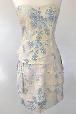 Portmans Vanilla Strapless Floral Layered Dress Size 14