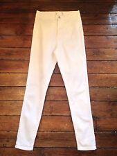 MISS Selfridge skinny vita alta jeans bianco taglia 12 W30 Gamba 32 pp86
