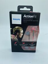 Philips ActionFit Sports Earbud Headphones SHQ1200PK/28 PINK & GREY In Ear