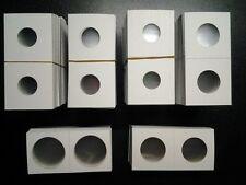 500 Assorted Size 2x2 Cardboard Mylar Coin Flips Holder U Pick Penny Half Dollar