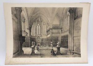 San Francesco Assisi Superiore Chiesa 1843 G Moore Litografia Architettura Di