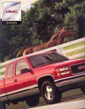 1998 GMC Sierra SL SLE SLT 36-Page Pickup Truck Deluxe Sales Brochure
