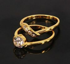 Cubic Zirconia Unbranded Yellow Gold Filled Fashion Rings