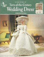 Turn of the Century Wedding Dress Crochet Barbie Fashion Doll Pattern Annies NEW