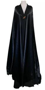 Halloween Black Cloak Adult XXL Hoodless Cape Handmade Costume Vampire Wizard