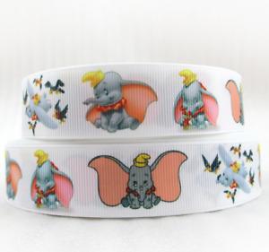 """Grosgrain Dumbo Elephant Disney Ribbon 1"""" 25mm"""