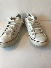 CONVERSE All Star Chuck Taylor Low Top Trainers White Leather  UK 7