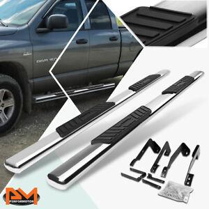 "For 02-09 Dodge Ram Truck Quad Oval 5"" Side Step Nerf Bar Running Board Chrome"