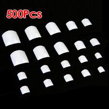 500 White UV Gel Acrylic Fake False Toe Nail Art Tips T1