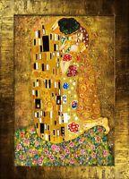 Gustav Klimt - Der Kuss -107x77 Ölgemälde Handgemalt Leinwand Rahmen