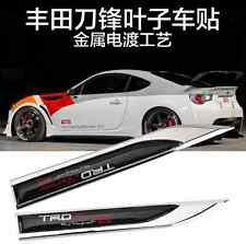 TRD Emblem Badge Decal Metal Knife Car Side Fender Sticker For Toyota GT86 MR2
