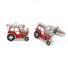 Red Tractor Farm Cufflinks & Organza Pouch