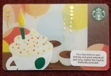 Starbucks 2012 Gift Card NEW Unloaded Birthday Drink Rare
