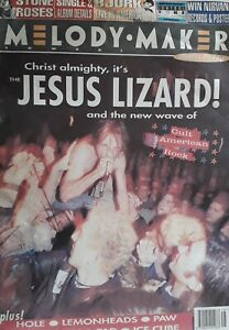 Melody Maker Music Magazine.December 4 1993.Jesus Lizard Cover.Stone Roses/Bjork