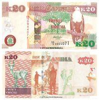 Zambia 20 Kwacha 2012 Banknotes P-52a Banknotes UNC