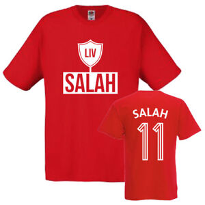 Mohamed Salah Liverpool Kids T-Shirt Age 1-13 Liverpool No.11 Mo Unofficial