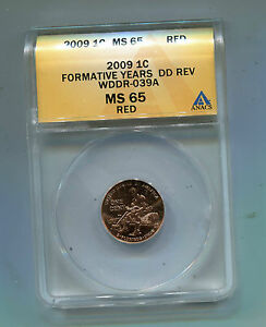 2009P Lincoln Cent Formative Years-WDDR-039A-ANAC'S-MS65 Attributed