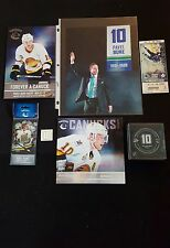 PAVEL BURE RETIREMENT NIGHT LOT PROGRAM PIN PUCK TICKET DECAL VANCOUVER CANUCKS