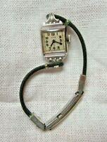 Vintage Elgin Ladies Watch 10K RGP Bezel  Original Cord Band. Sku 1137-12