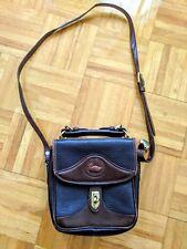 Vtg DOONEY & BOURKE leather small crossbody shoulder purse bag satchel brown