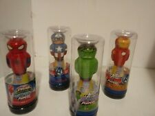 Marvel Avengers Power Poppers Launcher Drop to Pop 6 Feet High. Set of 4 poppers