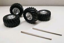 custom builds wheels tires1/64 4x4 Truck mud alterain axels greenlight monster