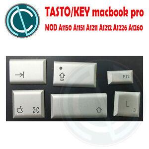 APPLE MACBOOK PRO A1150 A1151 A1211 A1212 A1226 A1260 KEYBOARD KEY TASTI ARGENTO