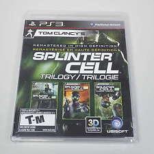 Tom Clancy's Splinter Cell Trilogy (Sony PlayStation 3, 2011) BRAND NEW (B3000)