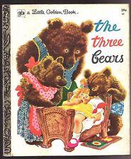 Vintage Children's Little Golden Book ~ THE THREE BEARS ~ Rojankovsky