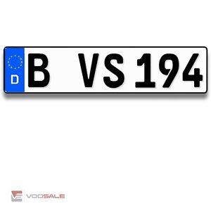 1 Autokennzeichen für alle Marken geeiget Top Qualität in der Größe 460x110mm
