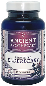 Ancient Apothecary Fermented Elderberry 90 Capsules Immune System Support Vegan