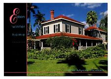 Edison Winter Home Postcard Fort Myers Florida Built in Maine Shipped Schooners