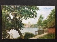 Vintage Postcard - Herefordshire #11 - RP Hereford Cathedral, River Walk - 1917