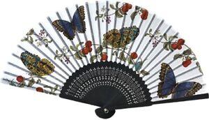 Fächer Schmetterlinge, 21 x 38 cm, Handfächer Falter Tiere Sommer Accessoire