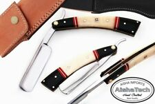 Harbor Fine Quality Straight Razor chrome Blade Bone and Horn Handle AT-1742