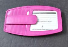 ili World Leather Fuchsia Pink 10 Credit Card RFID Block Zip Pocket Snap G17