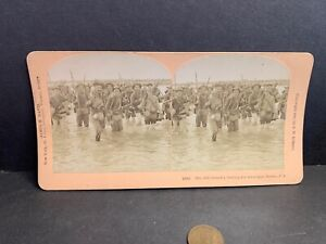 Vintage Stereoview, 12th Infantry US Army, Tarlac, PI, Phillipines, 1900