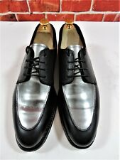 Grenson Zapatos para hombre Becerro Negro y Plateado UK 8 nos 9 EU 42 usado una vez-Raro Kit