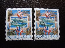NORVEGE - timbre yvert et tellier n° 1000 x2 obl (A04) stamp norway (E)