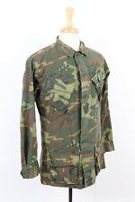 Vtg 1969 Vietnam Erdl Tropical Camouflage Poplin Slant Pocket Shirt Jacket Small