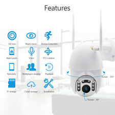 Full 1080P HD IR Cam CCTV Camera Motion Tracking WiFi PTZ Speed Dome Security IP
