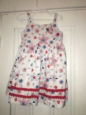 Blueberi Boulevard girls size 4 dress red white blue patriotic butterfly